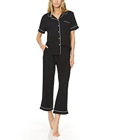 Women's Annie Button Capri Pajama Set