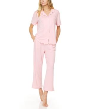 Women's Annie Button Capri Pajama Set