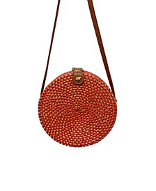 Quin Rattan and Synthetic Woven Crossbody