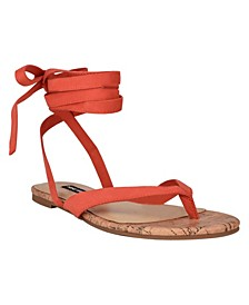 Women's Tiedup Tie-Up Flat Thong Sandals