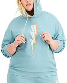 Trendy Plus Size Lightning Hoodie
