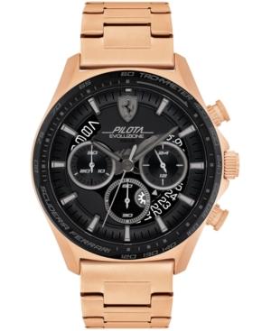 Men's Chronograph Pilota Evo Rose Gold-Tone Bracelet Watch 44mm