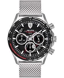 Men's Chronograph Pilota Evo Stainless Steel Mesh Bracelet Watch 44mm