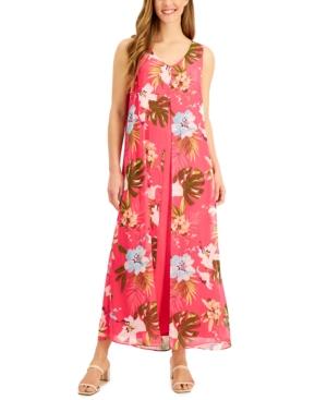 St Barts Sleeveless Midi Dress