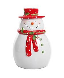 Jolly Plenitude Snowman Cookie Jar