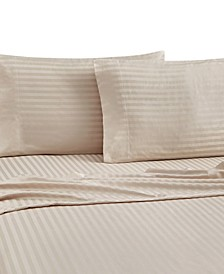 Christie Cotton Stripe 4 Piece Sheet Set, Queen
