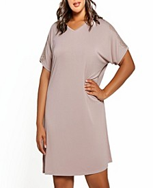Plus Size Estelle Modal and Lace V-Neck Sleep Gown