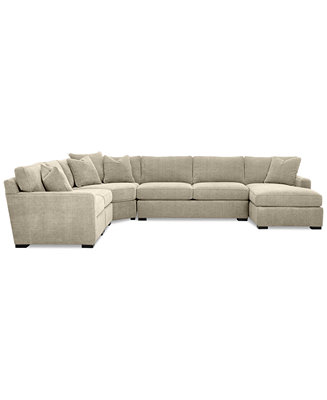 Radley 5 piece fabric chaise sectional sofa sectional for Radley sectional sofa macy s