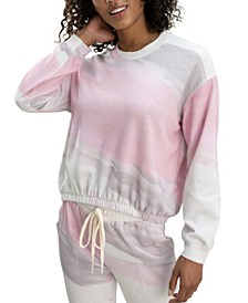 Sun-Wash Bubble Sleeve Sweatshirt