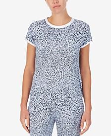 Contrast-Trim Sleep T-Shirt