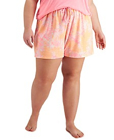 Plus Size Tie-Dyed Pajama Shorts, Created for Macy's