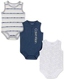 Baby Boys 3-Pack Logo Bodysuits