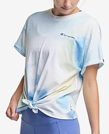 Women's Tie-Dye Tie-Hem T-Shirt