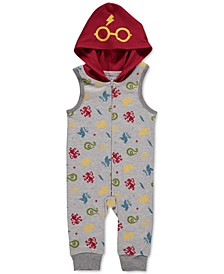 Harry Potter Baby Boys Printed Footless Coverall
