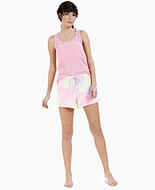 Ribbed Tank Top & Printed Shorts, Created for Macy's