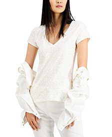 INC Printed V-Neck T-Shirt, Created for Macy's