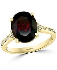 EFFY® Rhodolite Garnet (4-5/8 ct. t.w.) & Diamond (1/10 ct. t.w.) Ring in 14k Gold