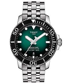 Men's Swiss Automatic Seastar 1000 Stainless Steel Bracelet Watch 43mm