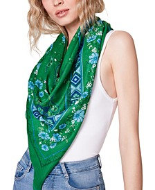 Large Voile Floral Scarf