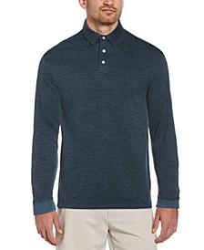 Men's Jacquard Long-Sleeve Polo