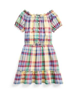 Polo Ralph Lauren Dresses BIG GIRLS TIERED MADRAS DRESS
