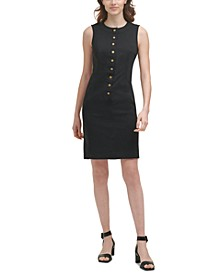 Button-Front Sheath Dress
