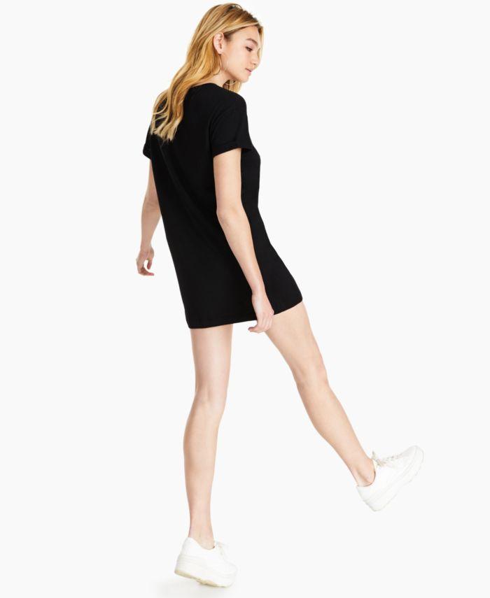 GUESS Lace Logo Tunic T-Shirt & Reviews - Tops - Women - Macy's