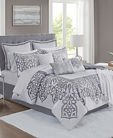 Lisette 14-Pc. Damask Jacquard Comforter Sets