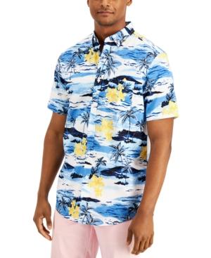 Men's Regular-Fit Tropical-Print Shirt