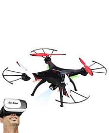 """12.6"""" Wi-Fi Camera Drone with Virtual Reality (VR) Goggles"""