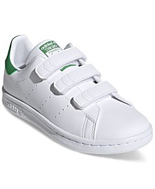 Little Boys Originals Stan Smith Primegreen Stay-Put Closure Casual Sneakers from Finish Line