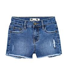 Big Girls Cleo Raw Edge Denim Shorts