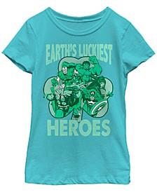 Big Girls Marvel Luck of the Hero Short Sleeve T-shirt