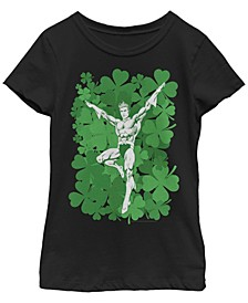 Big Girls Justice League Lucky Aquaman Short Sleeve T-shirt