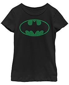 Big Girls Batman Clover Bat Logo Short Sleeve T-shirt