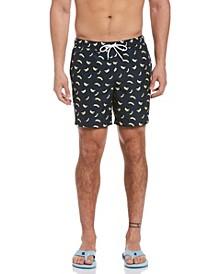 Banana Print Men's Swim Short