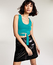 Belted Sweater Crop Top, Created for Macy's