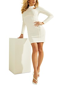 Long-Sleeve Camryn Ribbed Bodycon Dress
