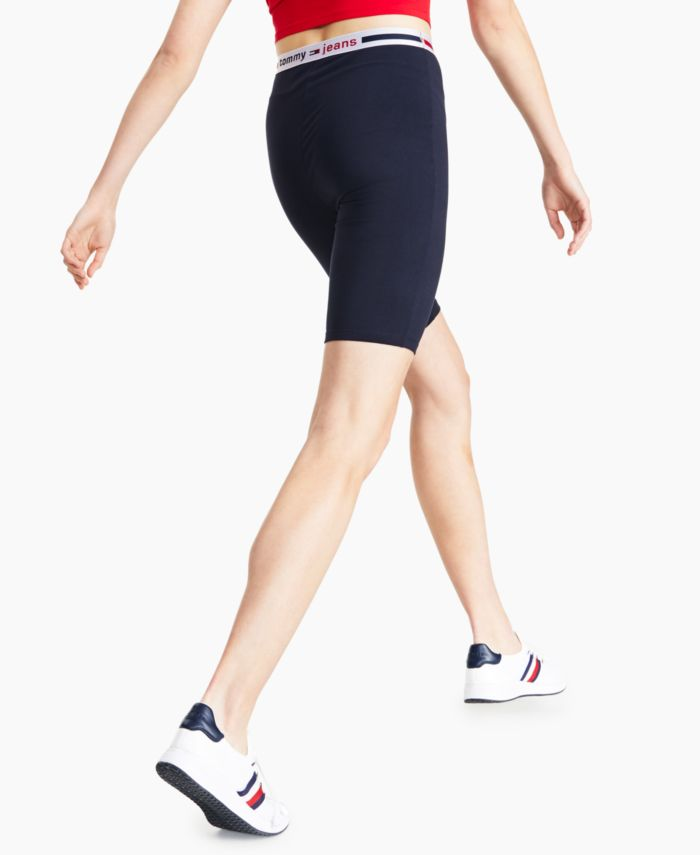 Tommy Jeans Logo Bike Shorts & Reviews - Shorts - Women - Macy's