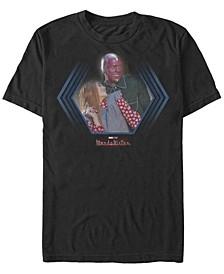 Men's WandaVision The Couple Short Sleeve Crew T-shirt