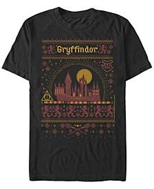 Men's Gryffindor Sweater Short Sleeve Crew T-shirt