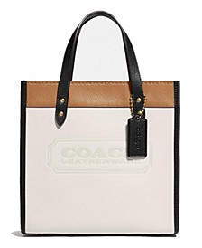 Field Tote In Colorblock Leather With Coach Badge