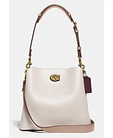 Willow Bucket Bag In Colorblock Leather