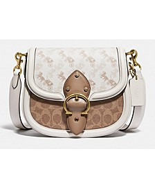 Beat Saddle Bag With Horse And Carriage Print