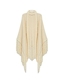 Women's Textured Fringed Poncho