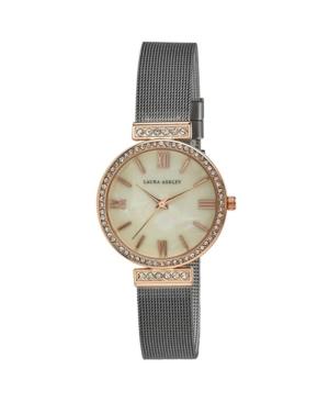 Women's Crystal T-Bar Gray Alloy Bracelet Watch 32mm