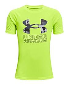 Big Boys UA Tech Hybrid Print Fill Short Sleeve T-shirt
