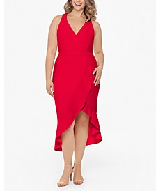 Plus Size Ruffled High-Low Dress