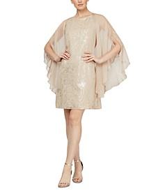 Foil-Print Dress & Chiffon Jacket
