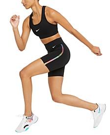 Women's Dri-FIT Rainbow-Stripe Shorts